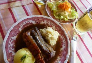 Fränkische Spezialität Schäufele © Lisa K. Schuermann