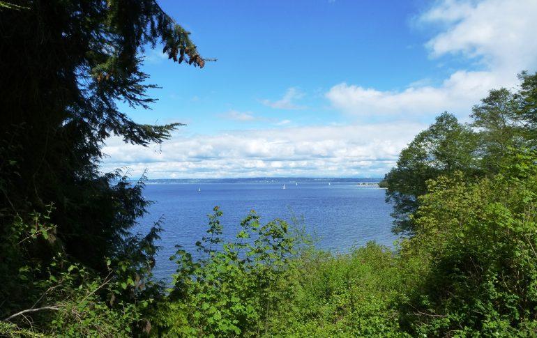 Blick von der Blodel Reserve auf Puget Sound, © Lisa K. Schuermann